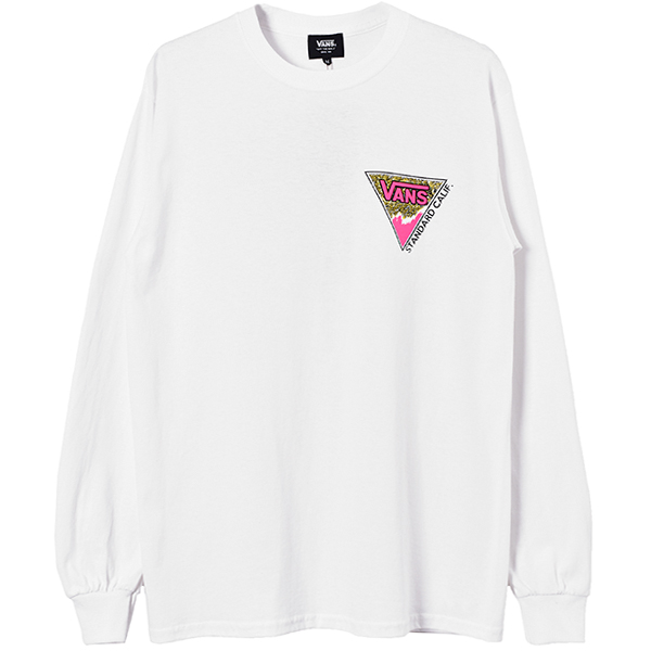 VANS × SD Triangle Logo Long Sleeve T/WHITE