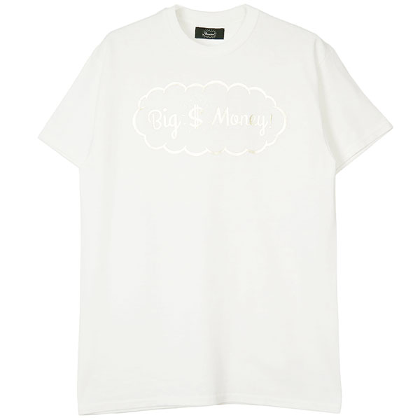 Tee -Big Money-/white×gold