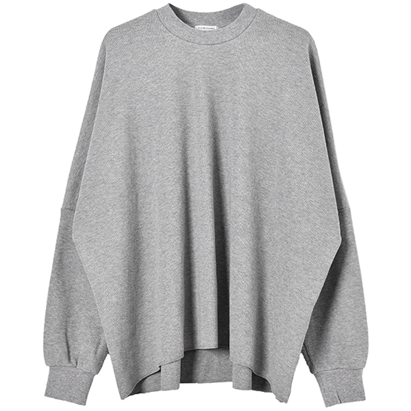 THERMAL OVERSIZE TOPS/GRAY