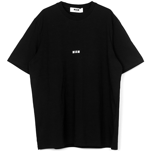 short sleeved micro logo t-shirt/BLACK