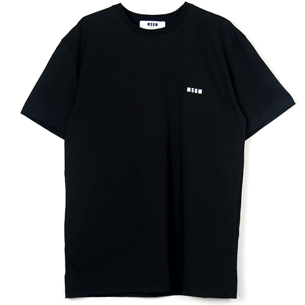 t-shirt with back-up print/BLACK