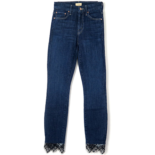 HIGH WAISTED LOOKER DAGGER ANKLE FRAY/INDIGO