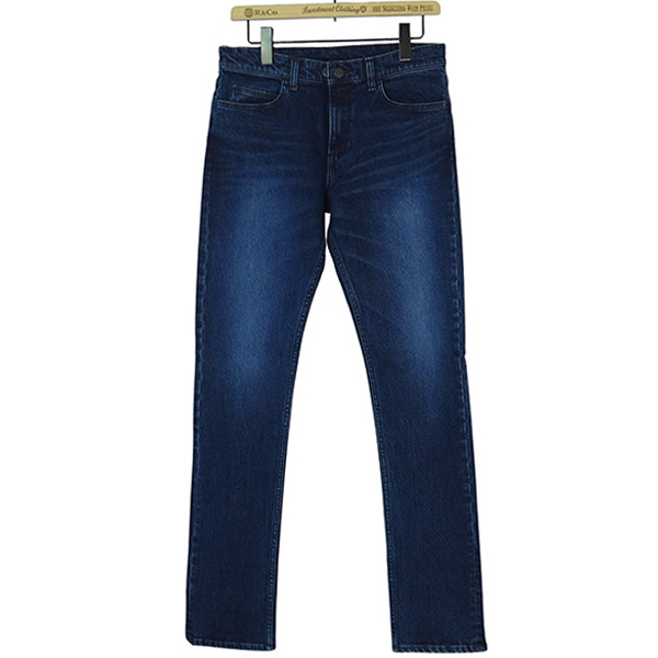 STRETCH TAPERED DENIM PANTS(BLUE)