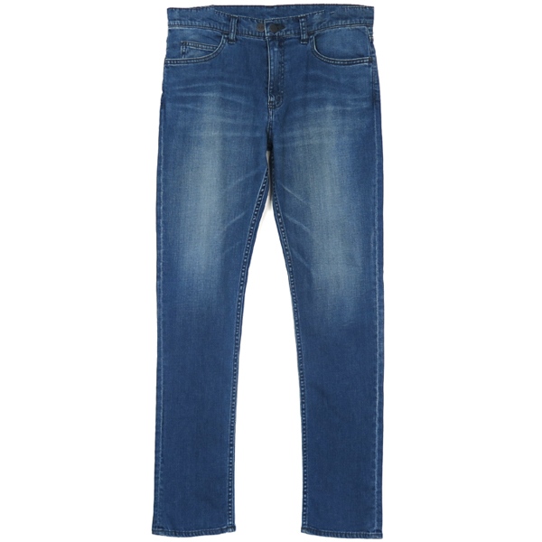 STRETCH DENIM PANTS/BLUE