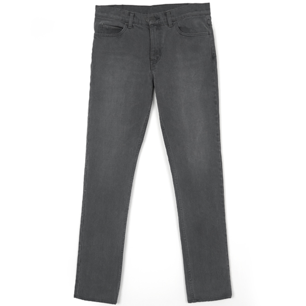 STRETCH DENIM PANTS/CHARCOAL
