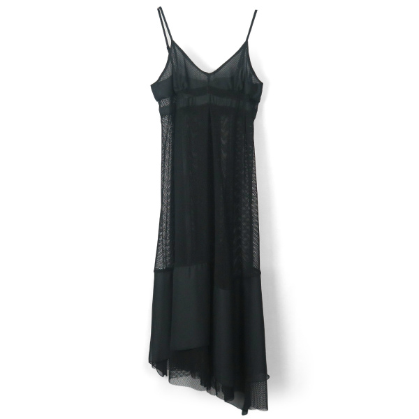 SPORTS MESH CAMISOLE DRESS/BLACK