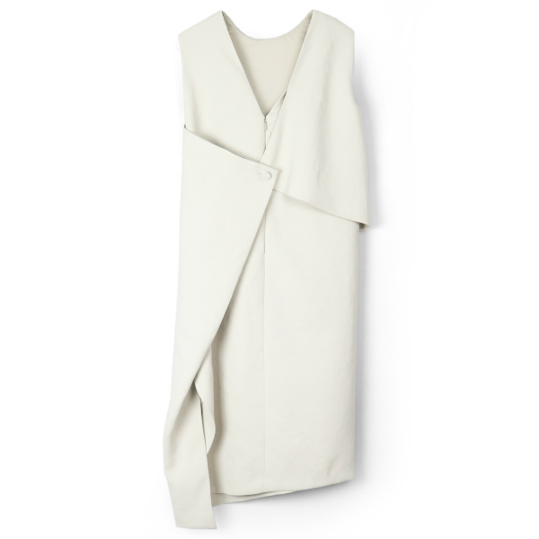 FLAT WOVEN DRESS/LIGHT GRAY