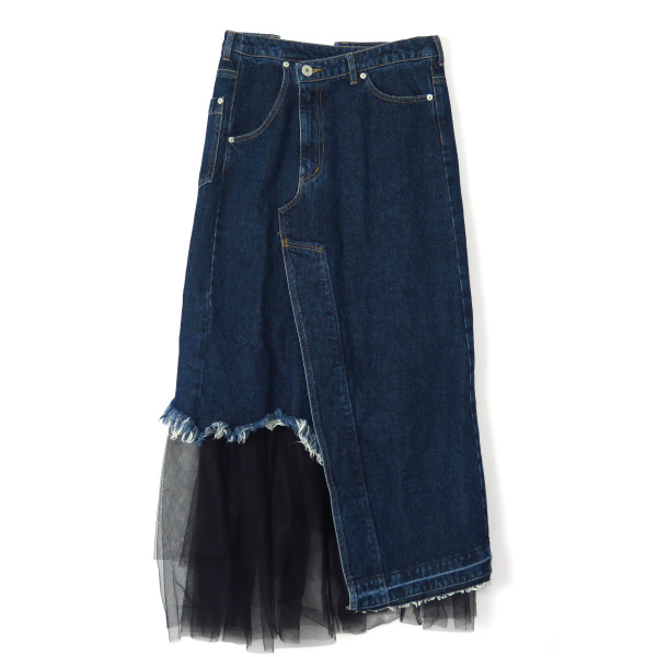 REMAKE DENIM SKIRT/INDIGO