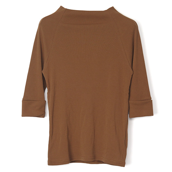 RIB BOTTLE NECK TOPS/CAMEL