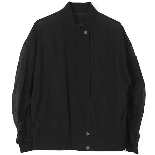 SEE THROUGH BLOUSON/BLACK