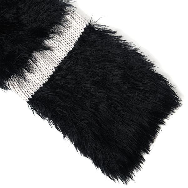 PLAIN FEATHER YARN KNIT/BLACK