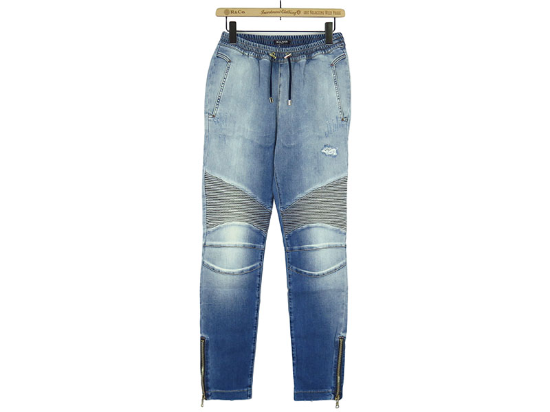 BIKER JOGGING DENIM JEANS