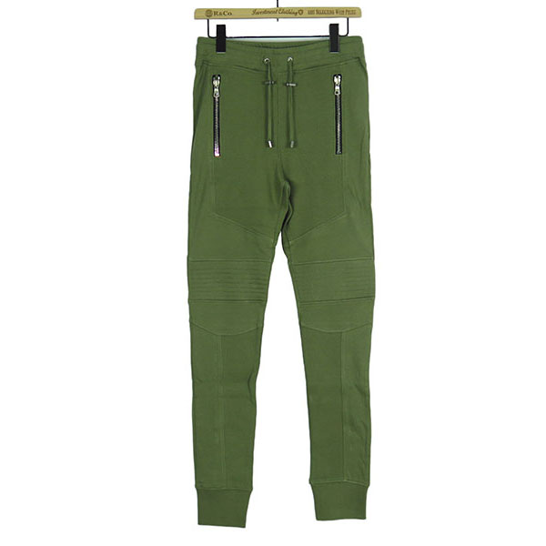 COTTON BIKER SWEATPANTS