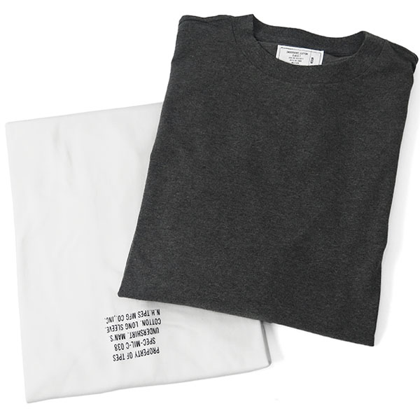2PACK L/S T-SHIRTS/CHARCOAL/WHITE