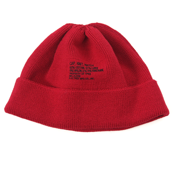 KNIT CAP/RED