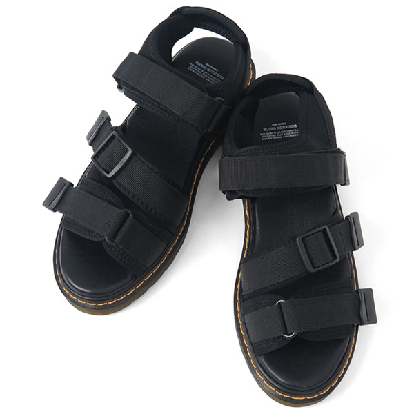 transparent sole sandal/BLACK