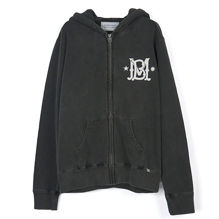 [Marbles x BUENA VISTA](SOMOS LA CANA) ZIP UP HOODED PARKA/BLACK(BMHP-01)