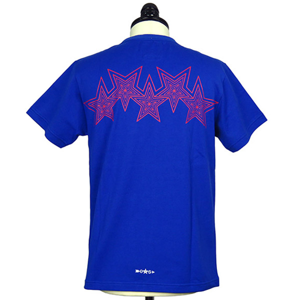[再入荷]Interlocking Star Tee/Blue×Red