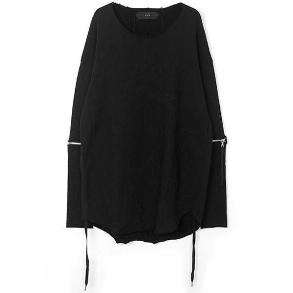 Removable sleeves pullover / BLK