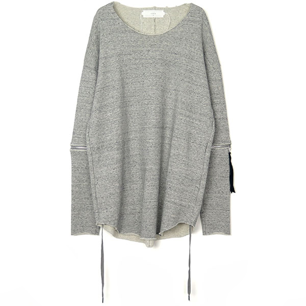 Removable sleeves pullover / GRY