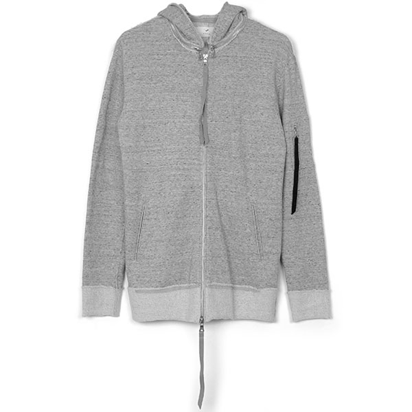 Removable hoodie blouson / GRY