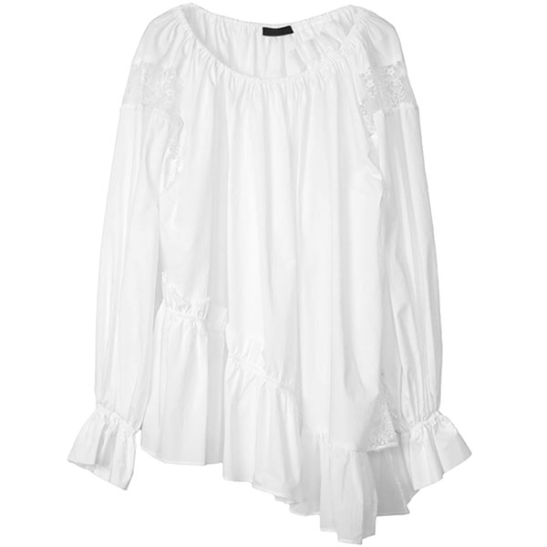 LACE COMBI TUNIC/WHITE