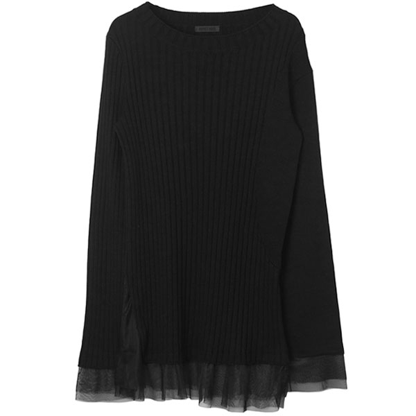 TULLE COMBI KNIT /BLACK
