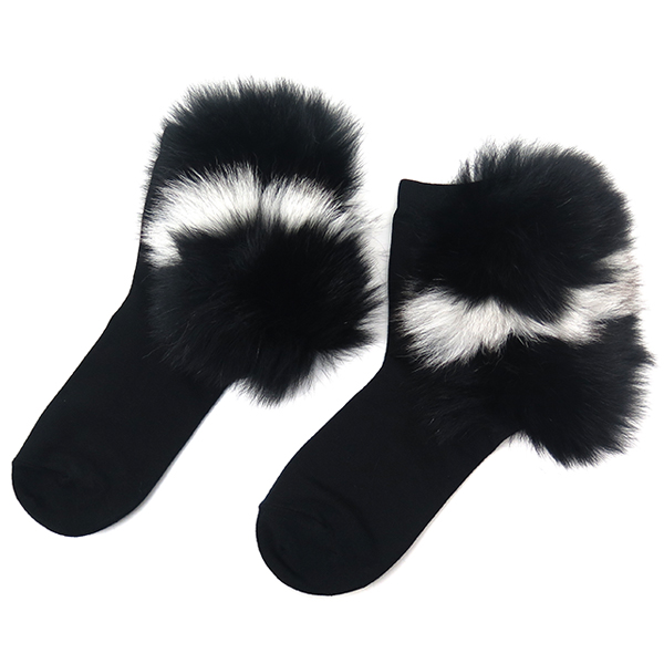 FUR SOX/BLACK×WHITE