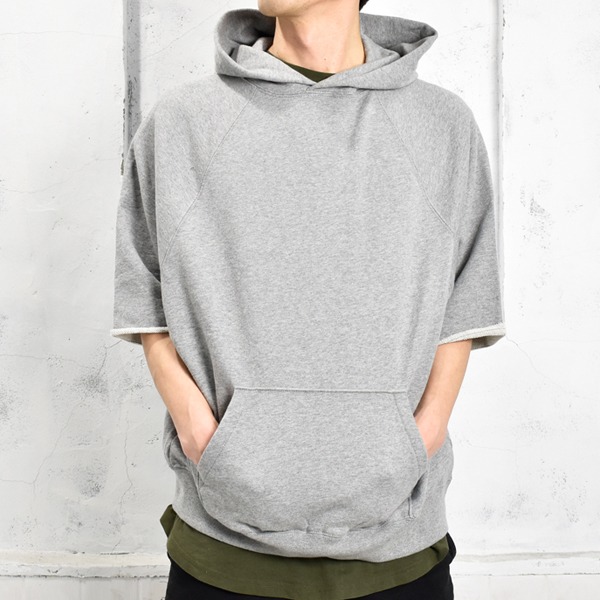 PULLOVER HOODIE CUT OFF /GRAY