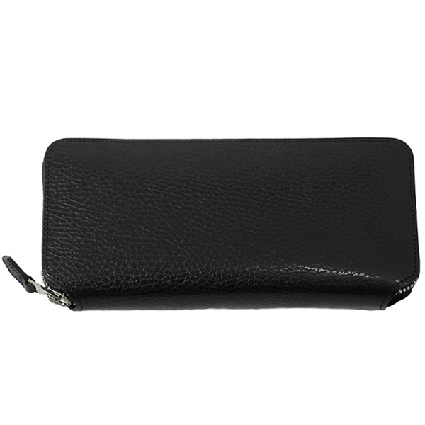 LONG ZIP WALLET-BLACK×LGOLD-