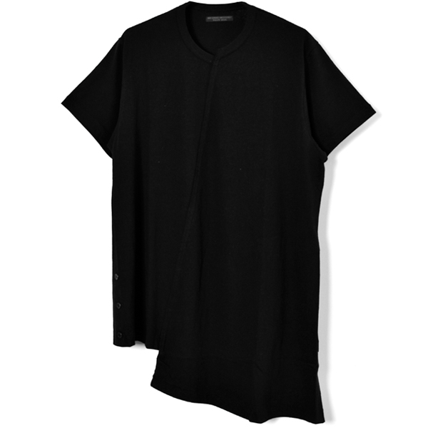 Diagonal Switch Short Sleeve Tee/BLACK
