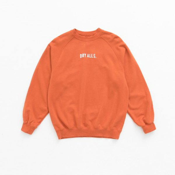 RAGLAN SWEATSHIRT/ORANGE