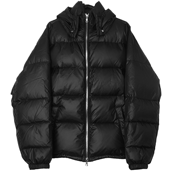 DOWN HOODED JACKET/BLACK