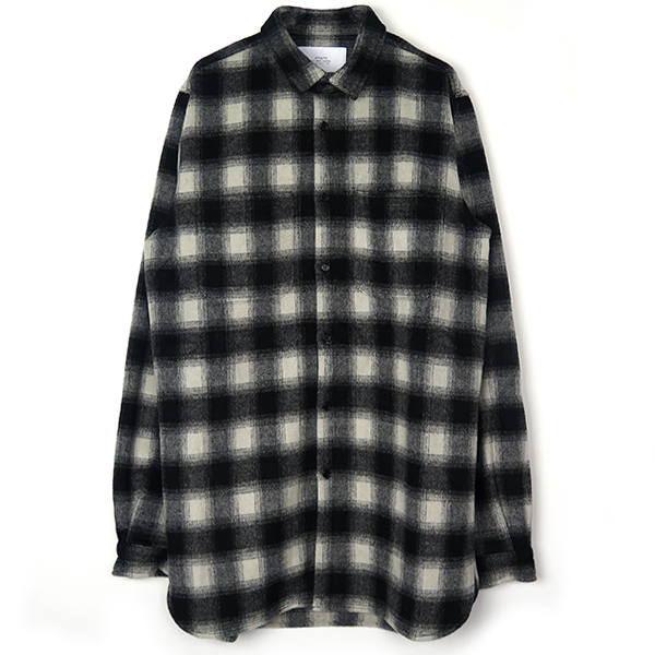 ESSENTIAL PLAID SHIRT/BLACK