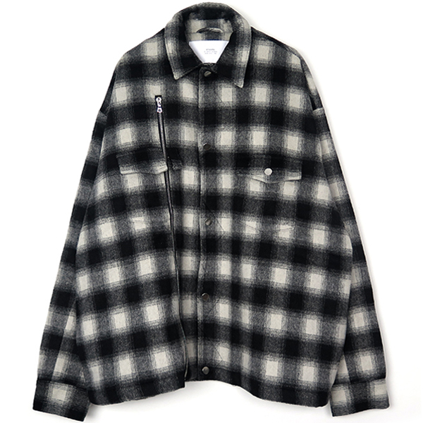 ASHER FLNL SHIRT JACKET/BLACK