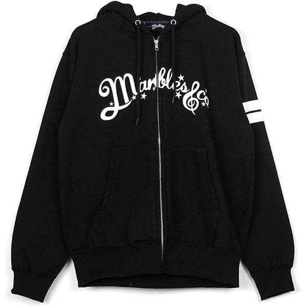NEO-LOGO BORDER ZIP UP HOODIE/BLACK(MHP-S19SP01)