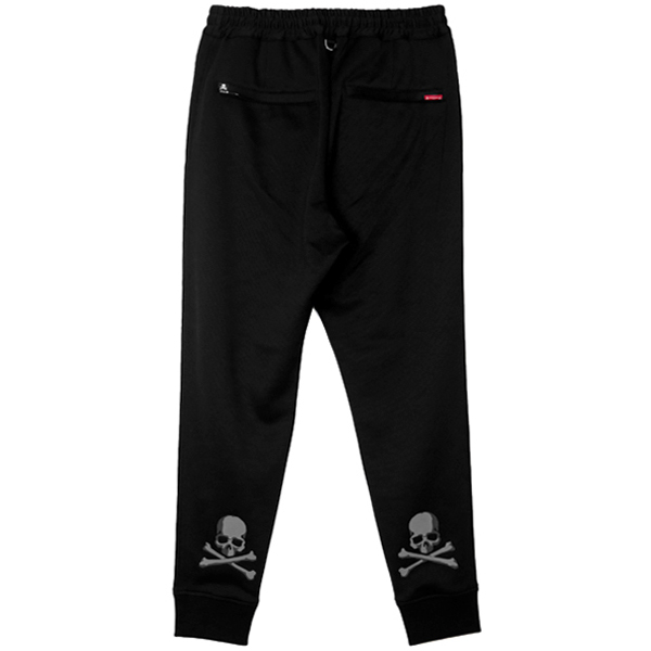 Zipup Jersey Pants/BLACK