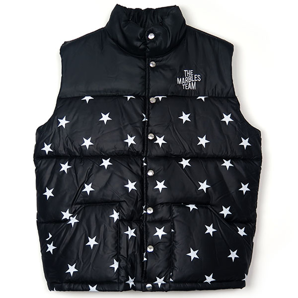 STARS PUFFY VEST/BLACK(MJK-A1804)