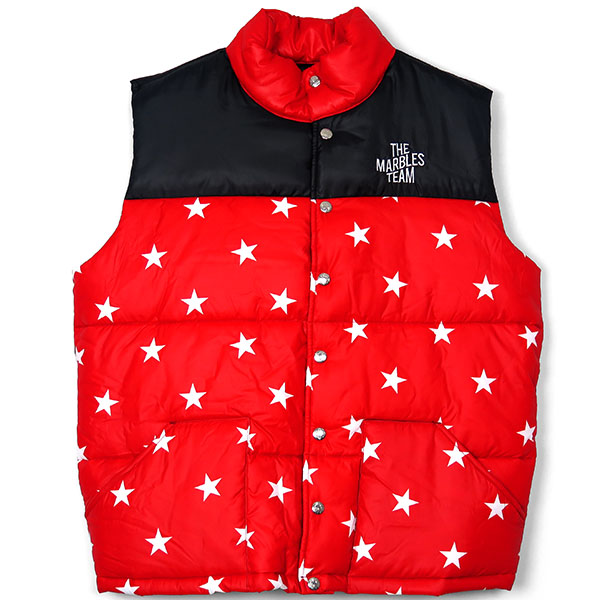 STARS PUFFY VEST/RED(MJK-A1804)