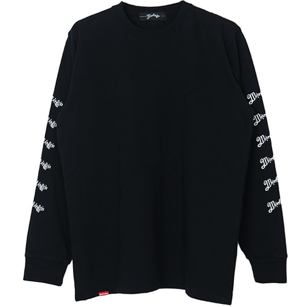 L/S HEAVY TEE ARM NEO-LOGO/BLAC(MST-A1801)