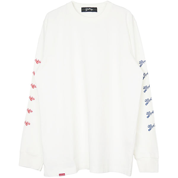 L/S HEAVY TEE ARM NEO-LOGO/WHITE(MST-A1801)