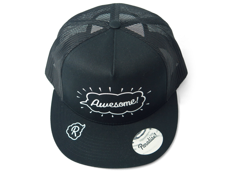 mesh cap (Awesome-1)/black×black
