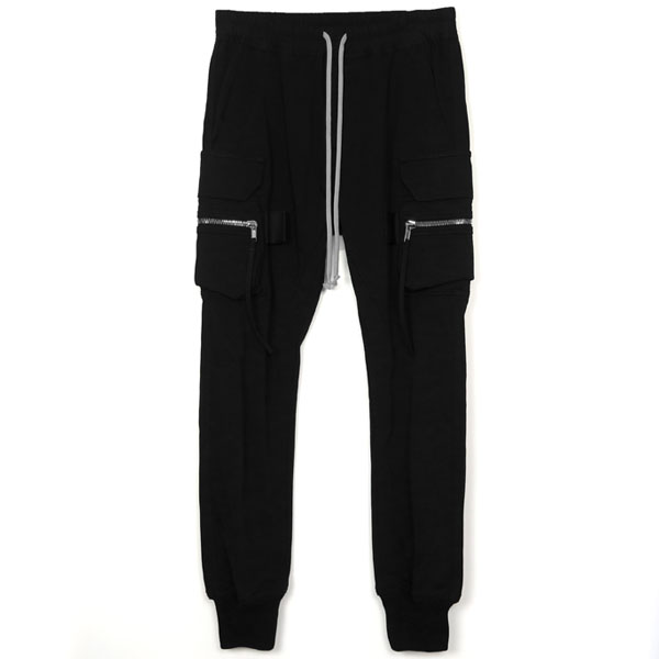 DRAWSTRING ASTAIRES CROPPED PANTS/BLACK