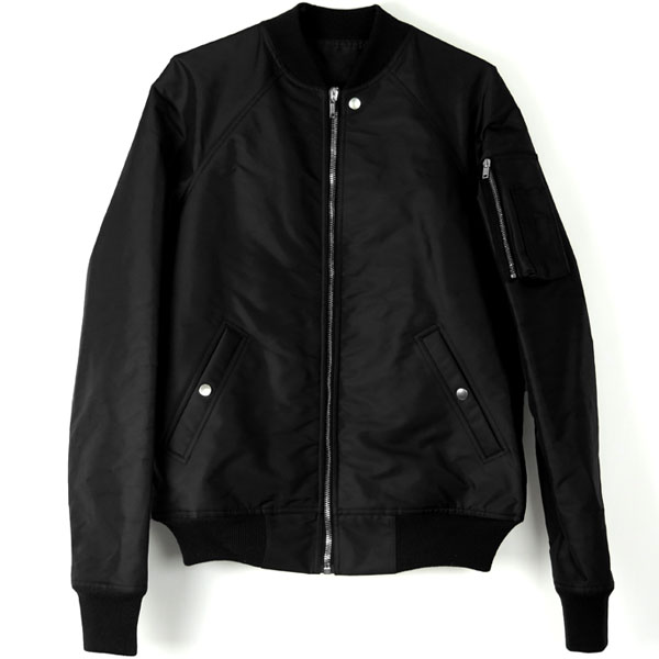 ZIP-UP BOMBER JACKET/BLACK