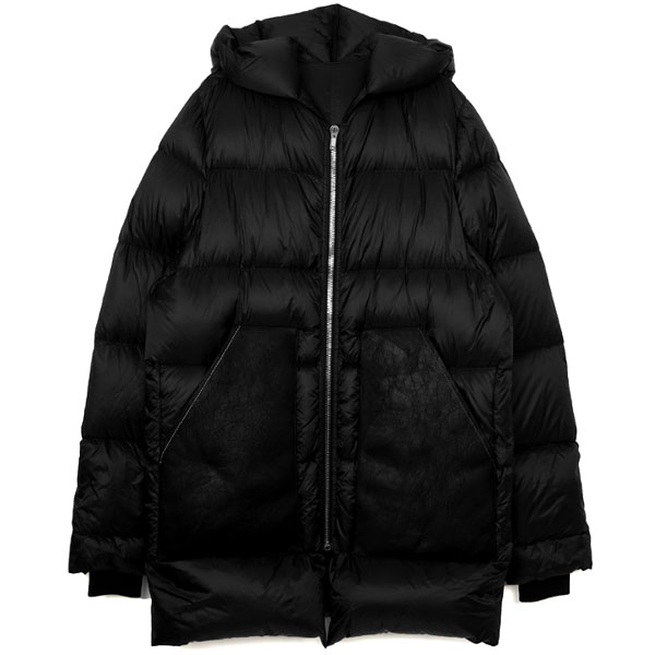 HOODED DUVET DOWN JACKET/BLACK