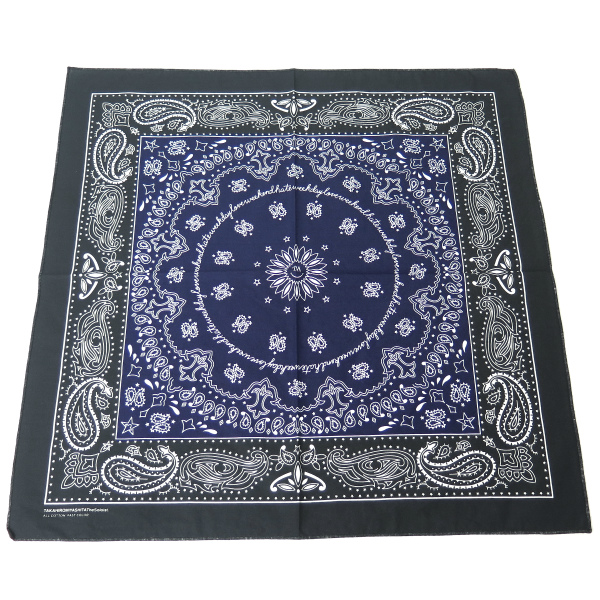 bandana./black×navy