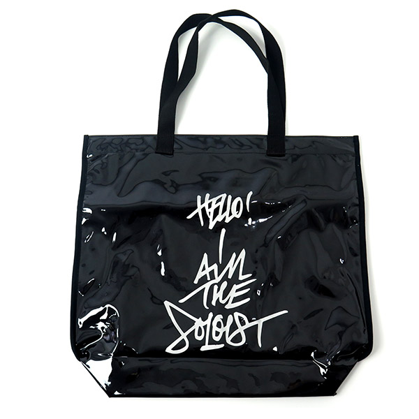 pvc shopping bag -M-./clear black