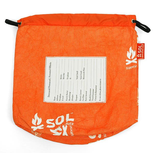 personal effects bag.-S-/orange