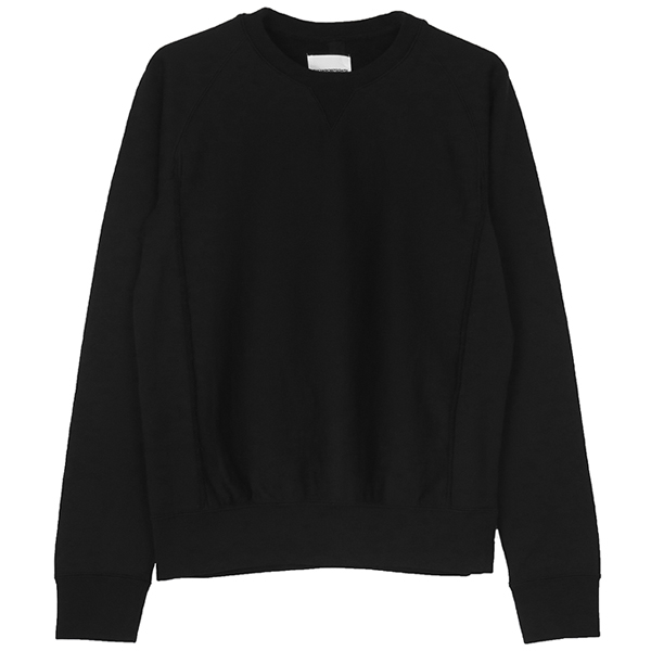 crew neck freedom l/s sweatshirt./black