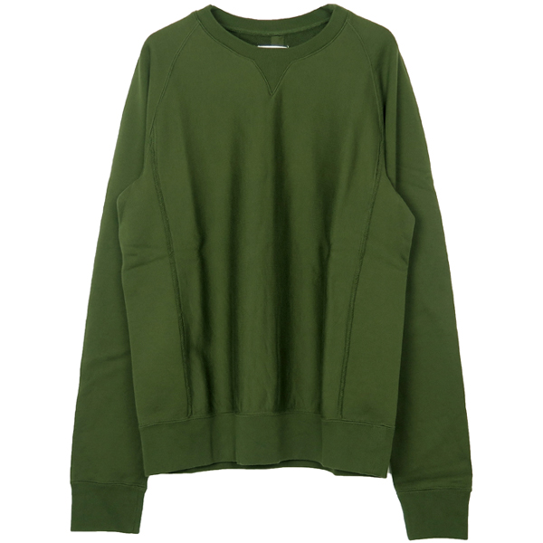 crew neck freedom l/s sweatshirt./olive